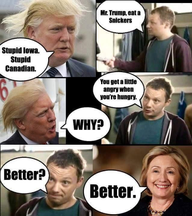 Eat A Snickers Donald