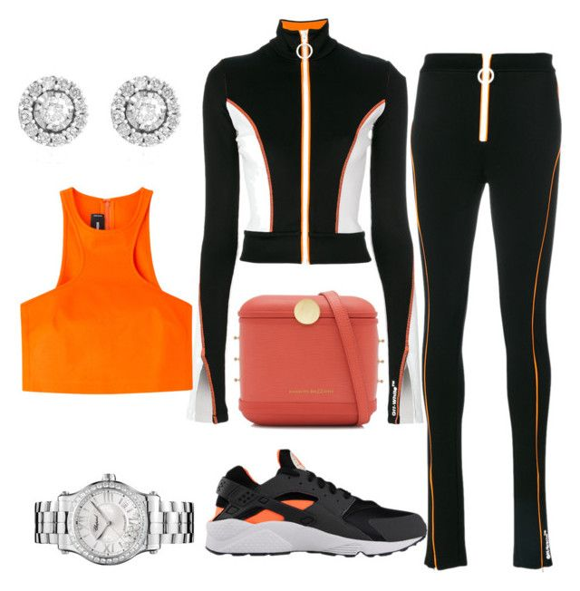 """""""sport orange"""" by esha2232 ❤ liked on Polyvore featuring Off-White, Benedetta Bruzziches, Effy Jewelry, Dsquared2 and Chopard"""