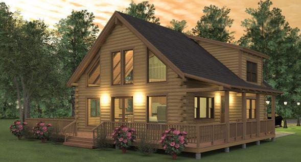 Augusta Log Home Floor Plan Exterior Log Homes Log Home Floor Plans Log Home Plans