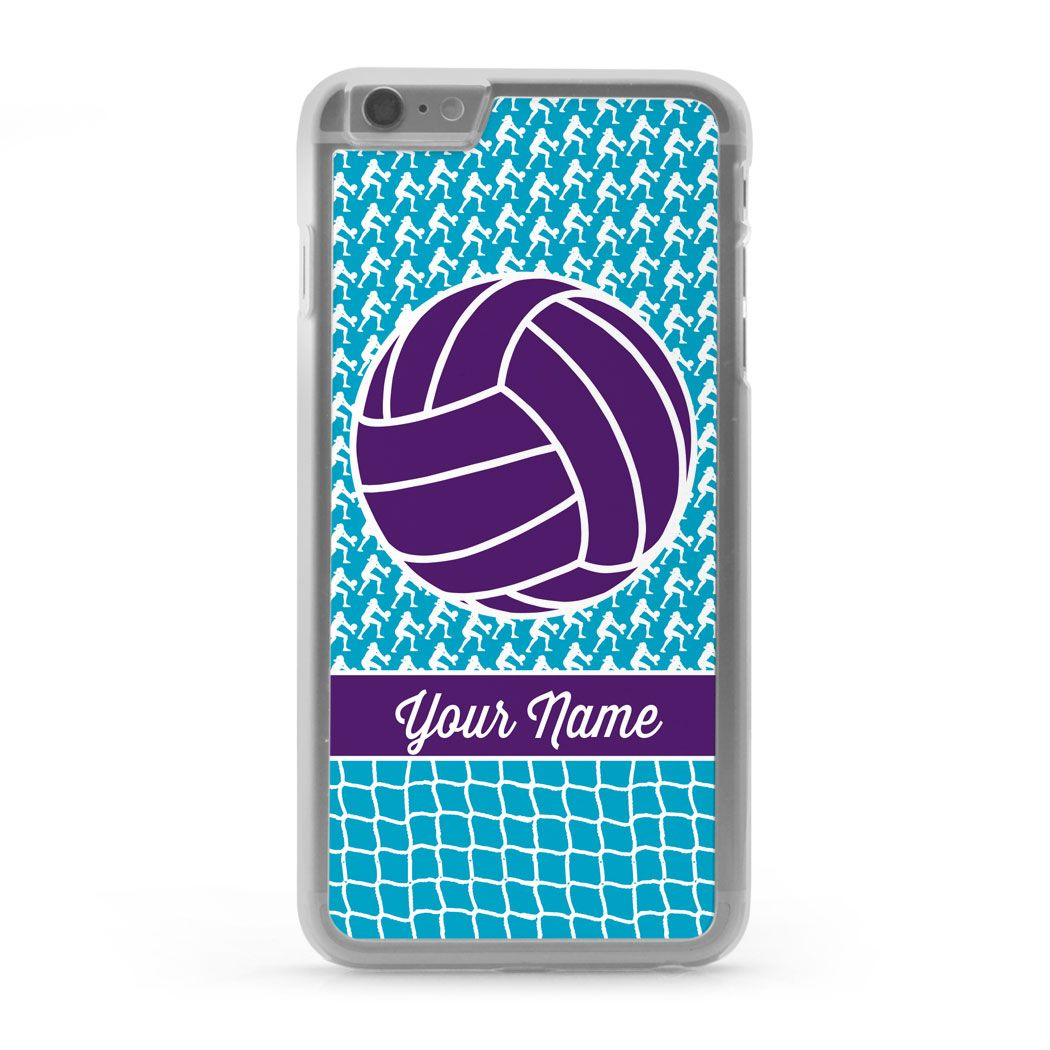 Volleyball Iphone Case Player Net Pattern Iphone 6 Plus Volleyball Phone Cases Volleyball Iphone Case Diy Iphone Case Volleyball Phone Cases