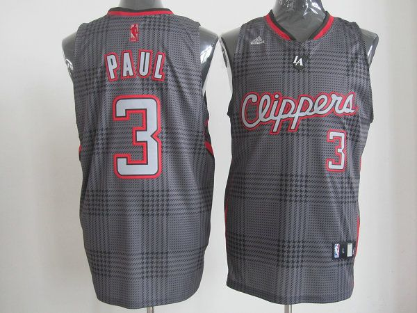 adidas nba los angeles clippers 3 chris paul black square swingman jersey