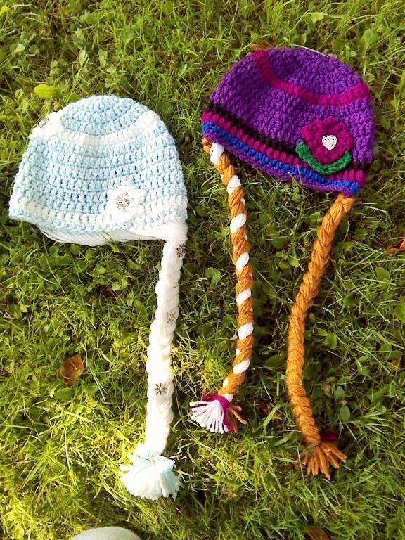 Anna crochet hat frozen sister crochet hat princess costume halloween costume frozen crochet hat princess hat