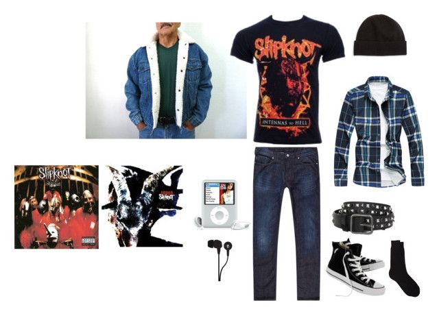 cc7727cac3e0 Slipknot outfit by wickedghostman94 on Polyvore featuring Armani Jeans