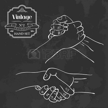 Stock Vector 言 Text Me Shaking Hands Drawing Shaking Hands