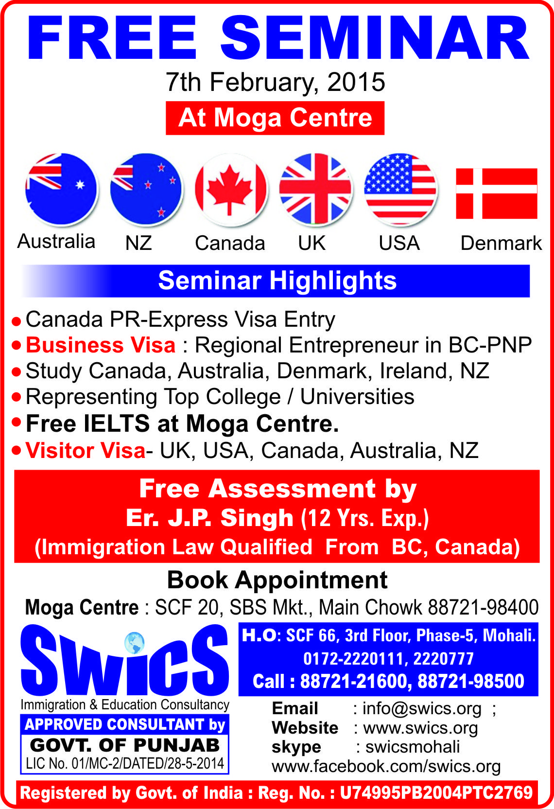 Seminar Highlights Canada Pr Express Visa Entry Study Visa Canada Australia