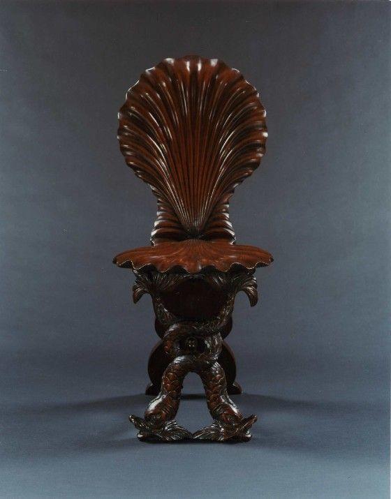 Shell Grotto Chair. Englsh. Circa 1740.