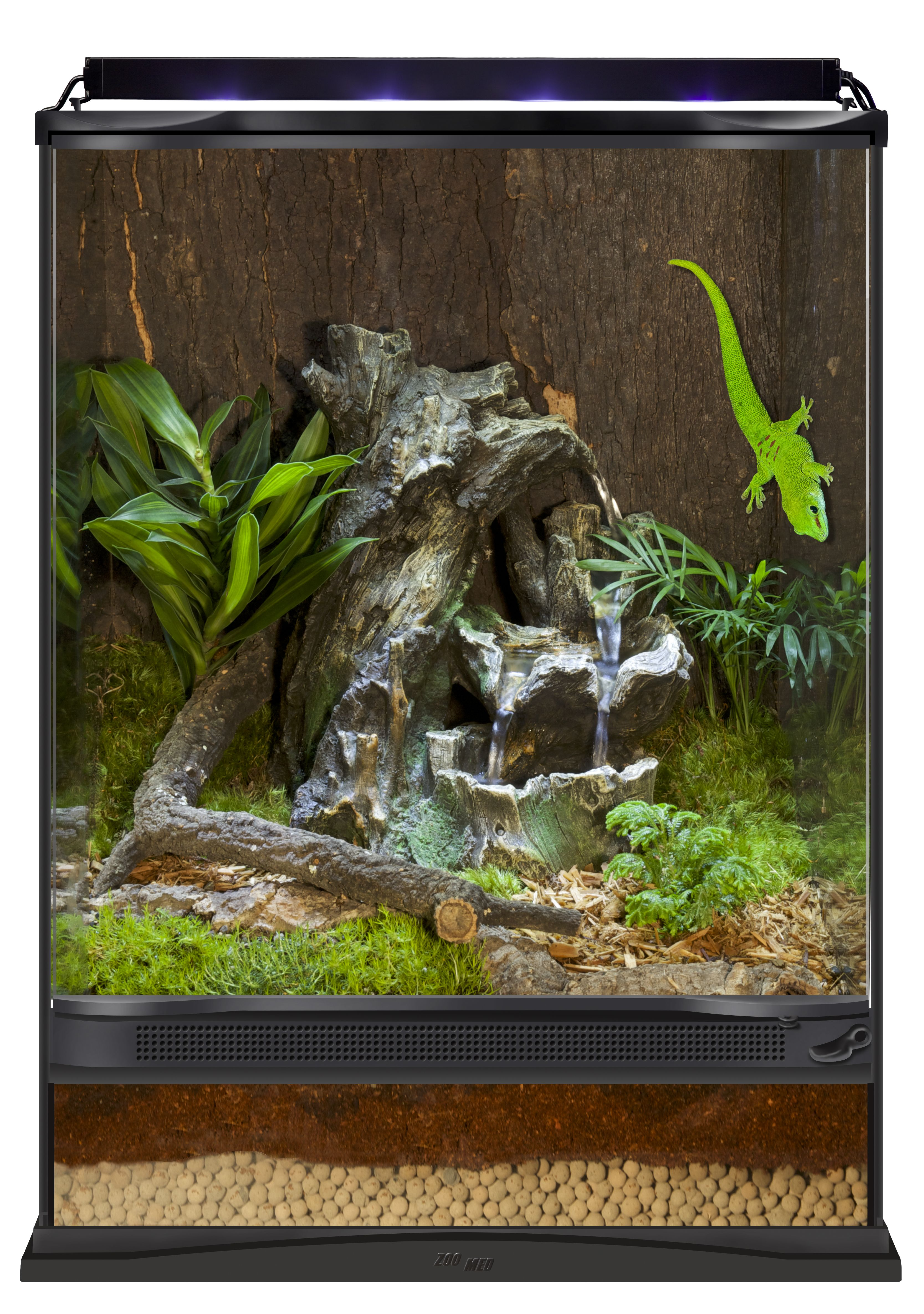 Repti Rapids Led Waterfall Medium Wood Adds Beneficial