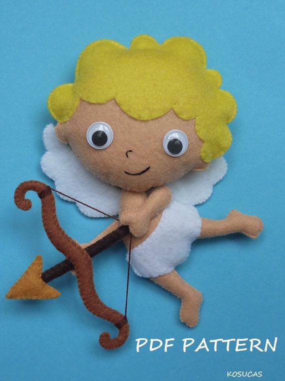 PDF pattern to make a felt Cupid