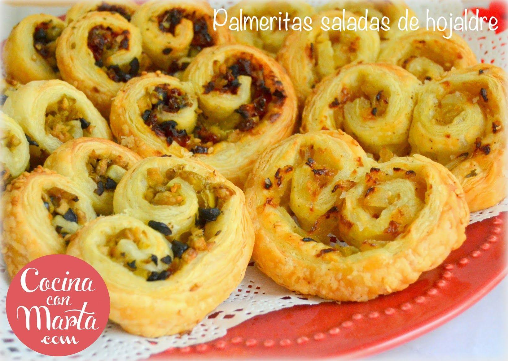 Receta De Cocina Rapida | Palmeras Saladas Hojaldre Palmeritas Rellenas Palmeritas Caseras