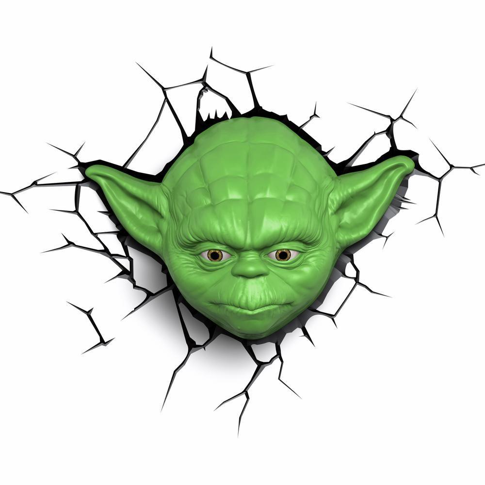 Unbranded Star Wars Yoda 3d Deco Light Led Night Light 5002531 The Home Depot 3d Light 3d Deco Light 3d Night Light