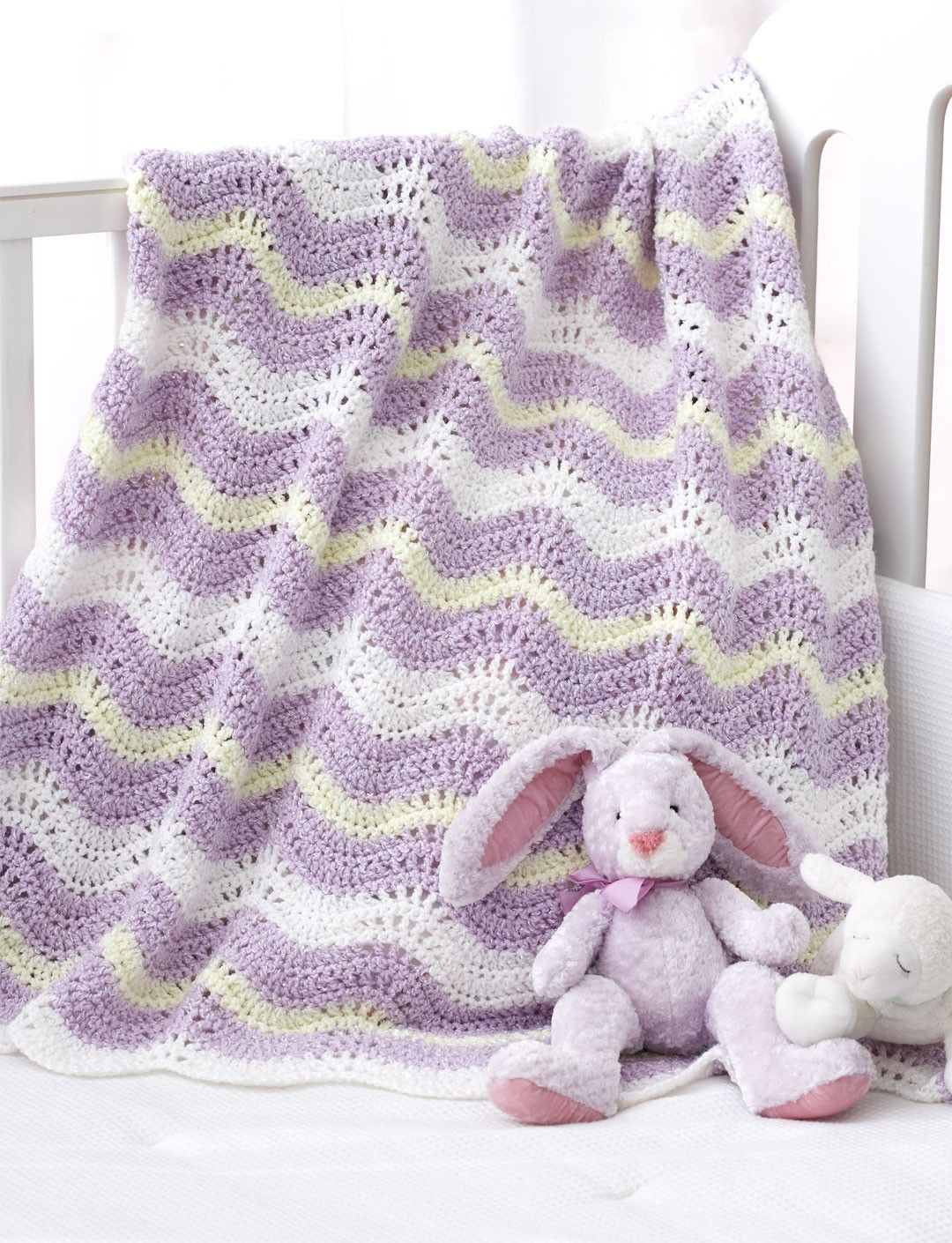 Yarnspirations.com - Bernat Wavy Ripple Blanket - Patterns ...