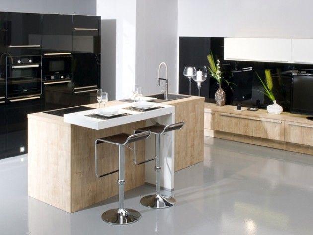 Cuisine Design Avec Ilot Central Cuisine Pinterest Kitchen - Cuisine design avec ilot