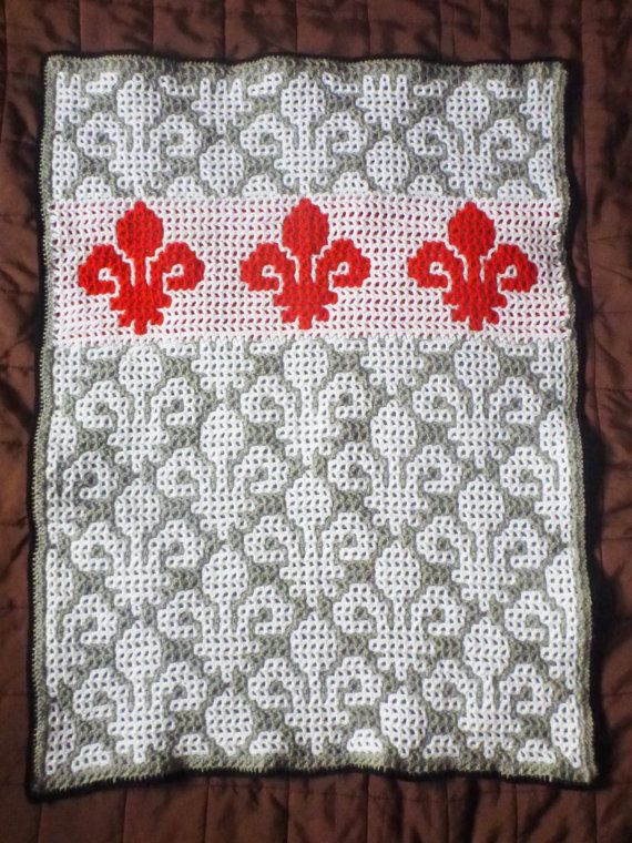 reversible interlocking crochet baby blanket by kakubadesign ...