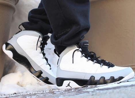 "4ba9a86ef3b Air Jordan 9 IX Retro ""Birmingham Barons"" Sneaker (New Images On Foot +  Release Date Info)"