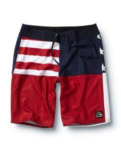 quiksilver men shorts  boardshorts swimwear board surf swimsuit beach pants red