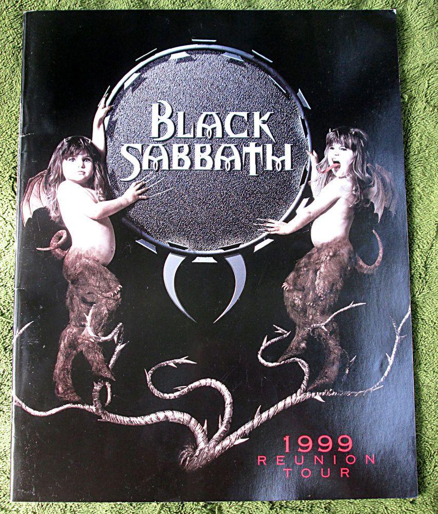black sabbath 1999 reunion tour program tour guide concert rock band book black sabbath. Black Bedroom Furniture Sets. Home Design Ideas