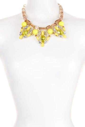 Luxe Champagne & Yellow Pendant Necklace on HauteLook