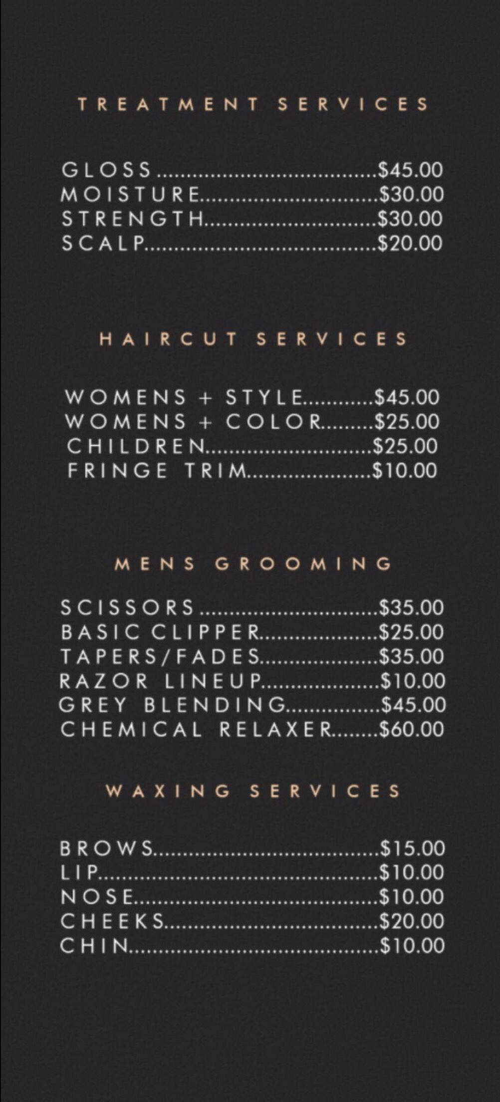 Jamiebrasilsalon Pricelist Hair Braid Designs Hair Salon Price List Hair Salon Prices