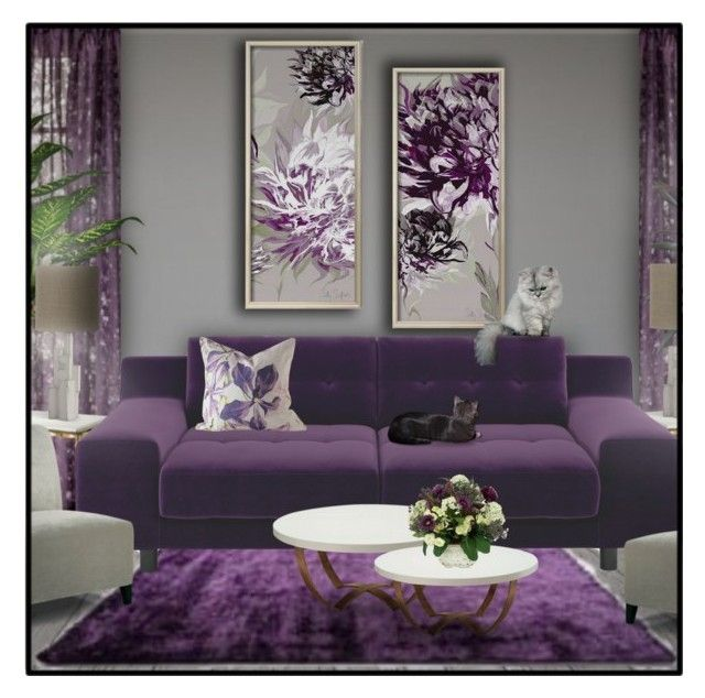what colors go well with purple grey  plum living rooms