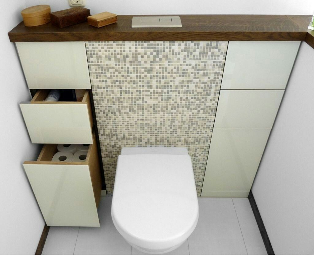 des rangements sur le c t des wc toilette d co astuce http www m. Black Bedroom Furniture Sets. Home Design Ideas