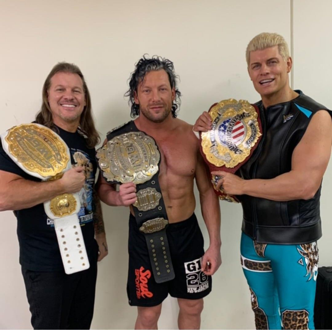 IWGP Champions Chris Jericho, Kenny Omega & Cody Rhodes | Japan pro  wrestling, Kenny omega, Njpw