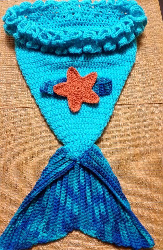 Crochet Mermaid Baby Cocoon Headband Set Baby Cocoon And Starfish