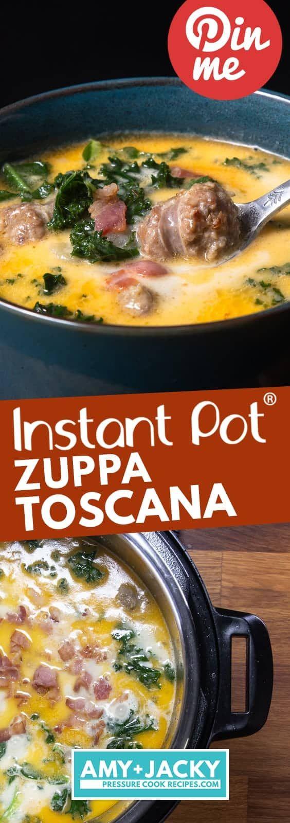Instant Pot Zuppa Toscana #zuppatoscanasoup