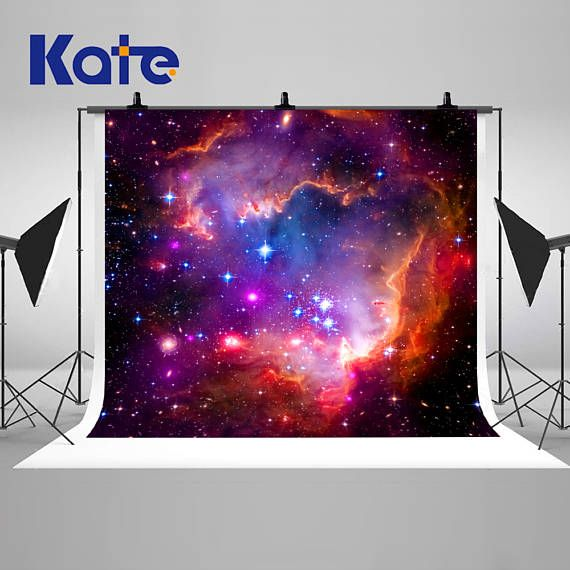 Colorful Galaxy Stars Sky Night Photography Backdrops Seamless Astronomy Black Hole Photo Backgrounds For Children Studio Props