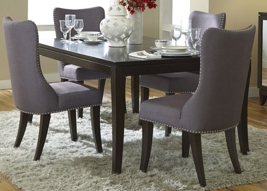 grey fabric dining room chairs best spray paint for wood furniture rh pinterest com grey fabric dining room chairs uk Grey Tufted Dining Chairs