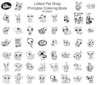 Littlest Pet Shop Free Printable Coloring Book 55 Pages Cool