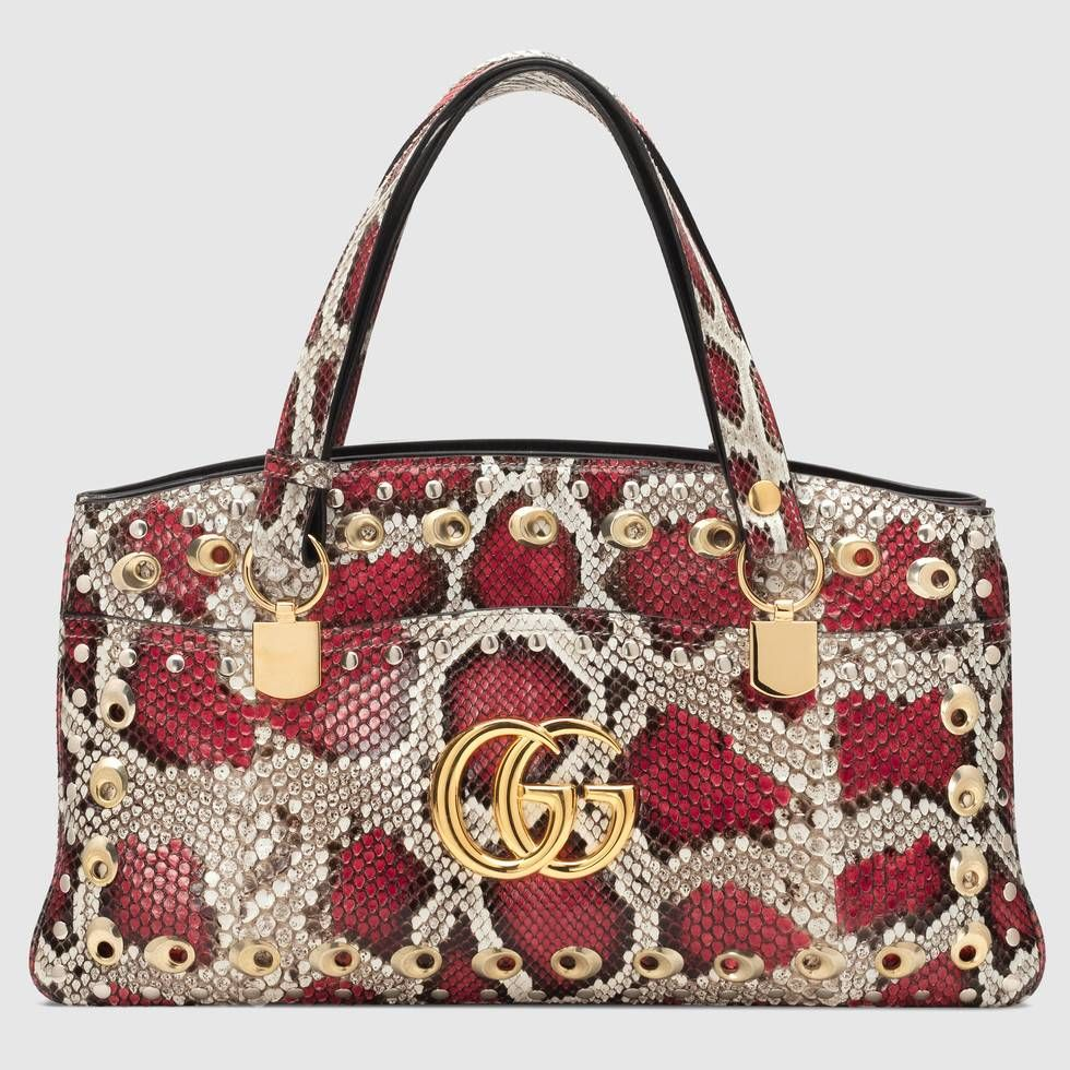 05312ab517c7 The Arli large snakeskin top handle bag by Gucci. #gucci #gucciwomen  #guccihandbag #guccibag