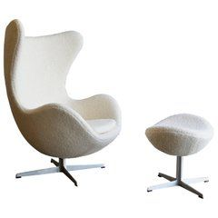 Egg Chair And Ottoman By Arne Jacobsen For Fritz Hansen Pieces