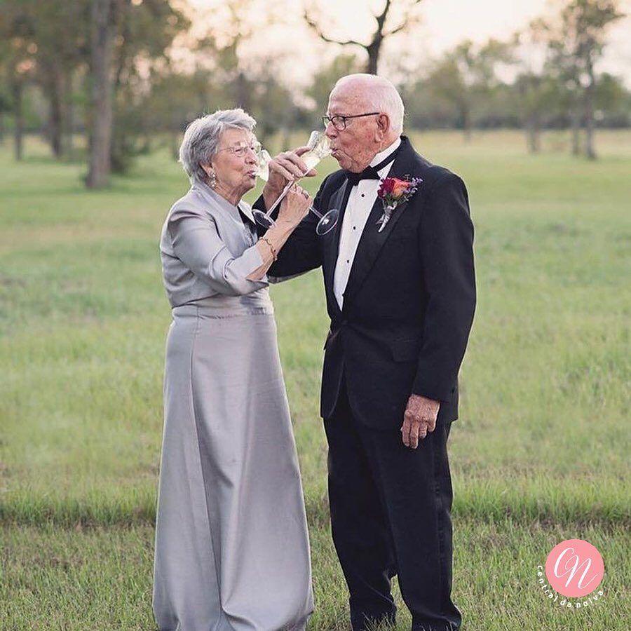 Годовщина свадьбы - 70 лет! | Пожилая пара свадьба, Фото ...