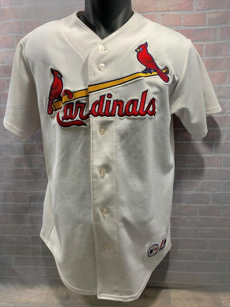 sale retailer b6e74 6a06f LARRY WALKER #33 St Louis Cardinals Majestic Baseball Jersey ...