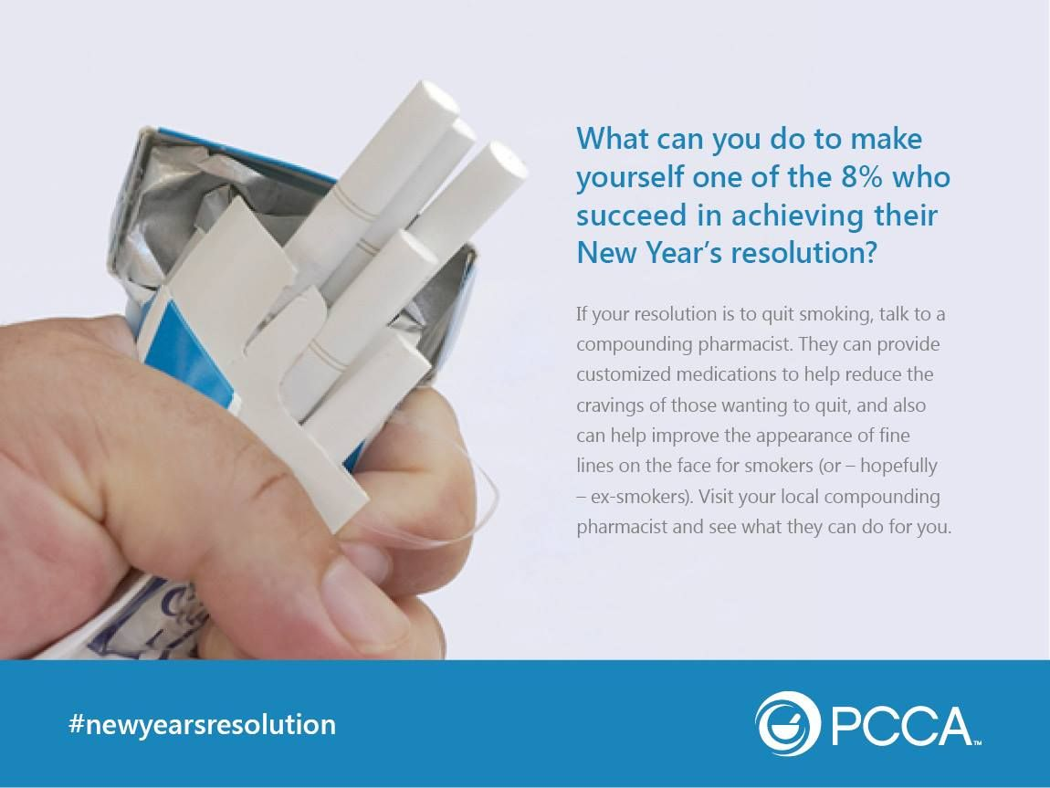 Is your New year's resolution to quit smoking?  Ask your local compounding pharmacist what they can do to help.