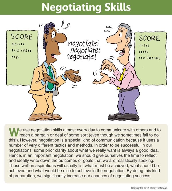 A Negotiation Cartooncomic Including An Overviewsummary Of