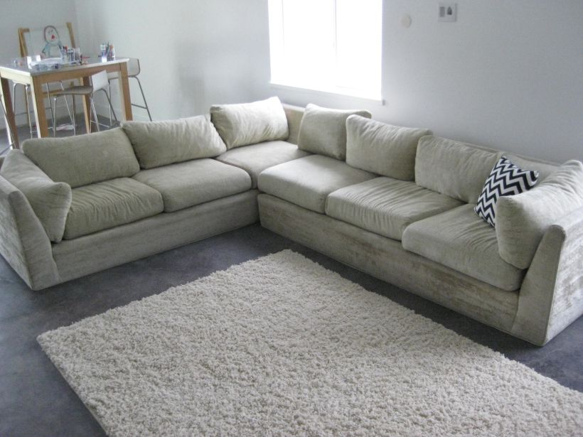 Our EXACT Sectional Sofa Reupholstered And Amazing. Must DO THIS!
