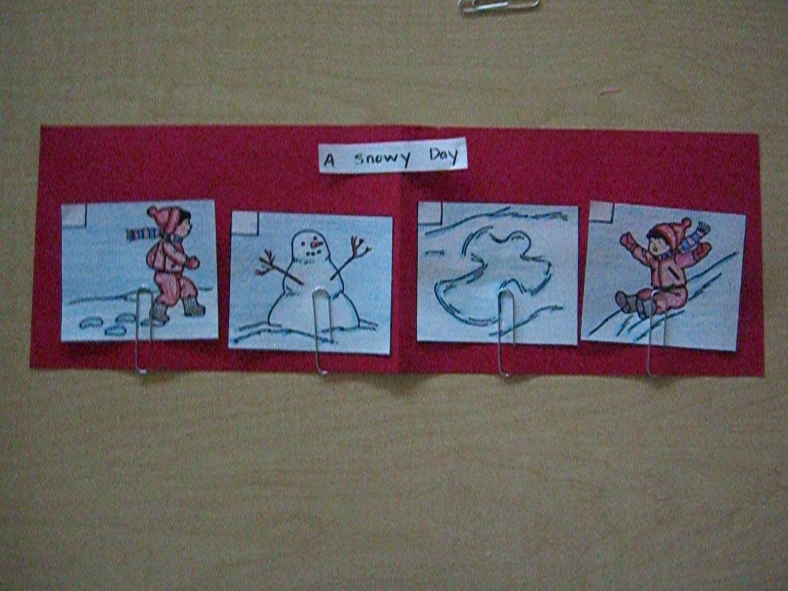 Sequencing A Snowy Day By Ezra Jack Keates With Images