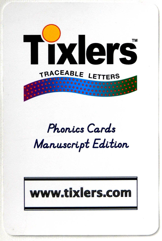 Tixlers Traceable Phonics Cards Manuscript Edition