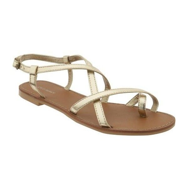Old Navy Womens Faux-Leather Grecian Sandals - I used to have something similar in a deep brown leather...EXTERMELY comfortable!