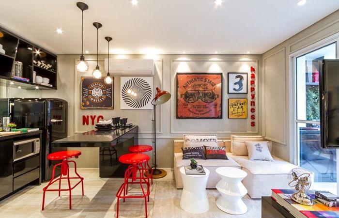 Foto do apartamento decorado do Vibe República DecorCasa - decoracion de apartamentos pequeos