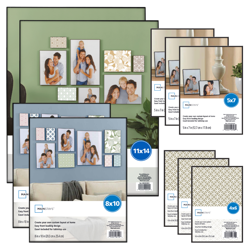 Free 2 Day Shipping On Qualified Orders Over 35 Buy Mainstays 10 Piece Format Picture Frame Set Black At W In 2020 Picture Frame Sets Black Picture Frames Frame Set