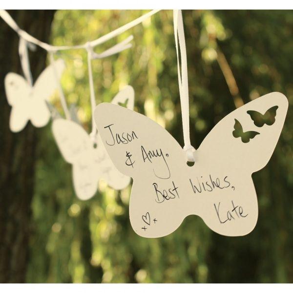 Oui Oui-Tarjetas Mariposas mensaje a los novios