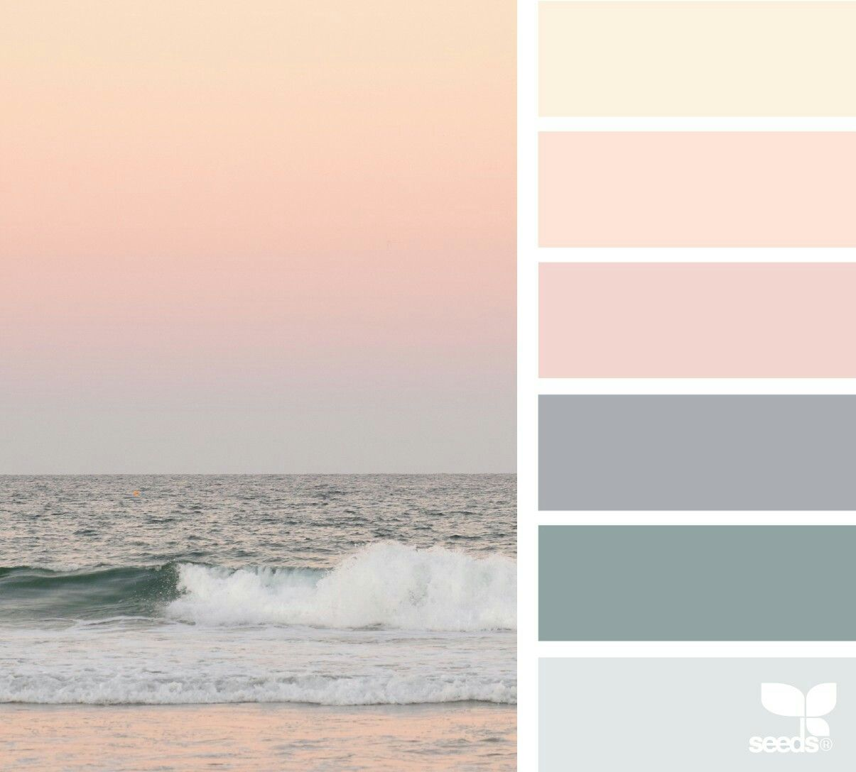 Watery Sunrise Calm Color Palette Bedroom Colors Seeds Color