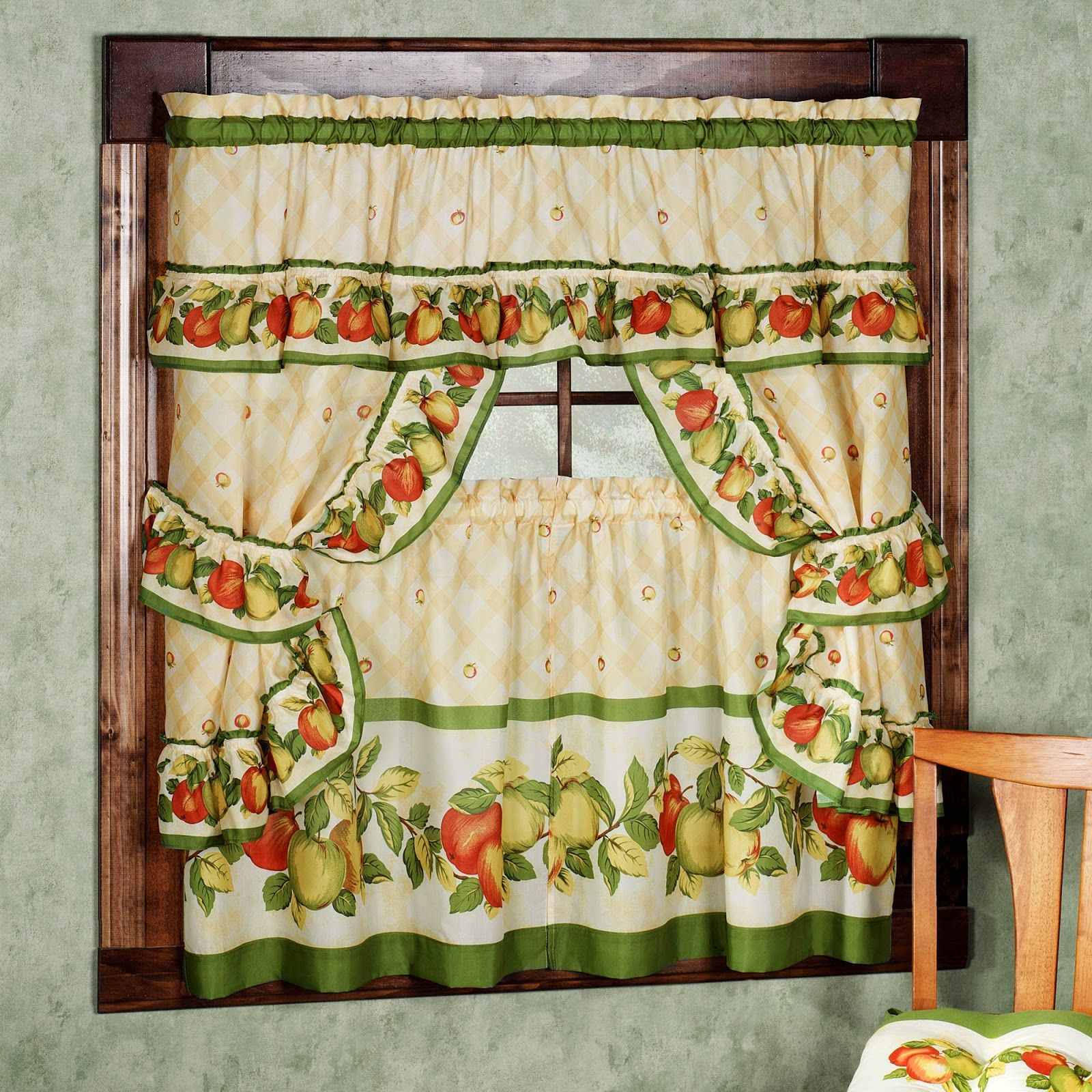 Kitchen Curtains Vintage. Kitchen Curtains Vintage Style. Retro Kitchen  Curtains 1950s.