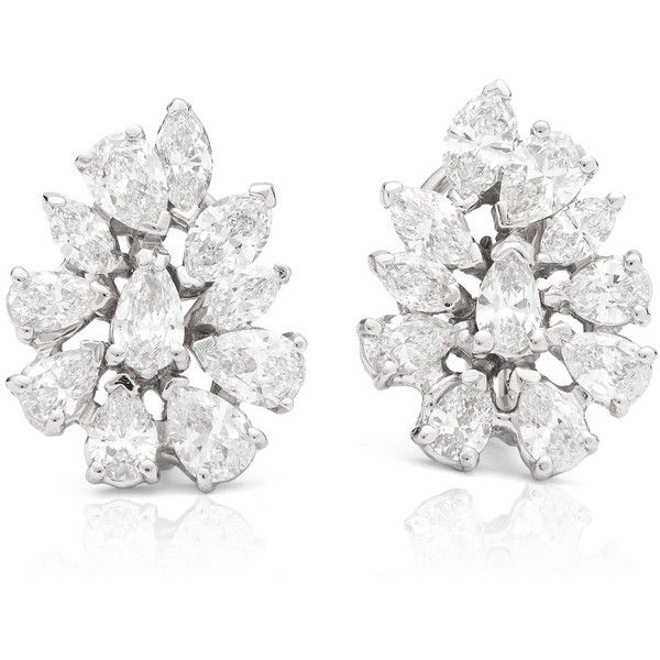 Blue Nile Estate Diamond Cluster Earrings  225 715 Mxn