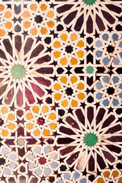 Marrakech Tombe Saadiane Pattern Art Islamic Patterns Islamic Art