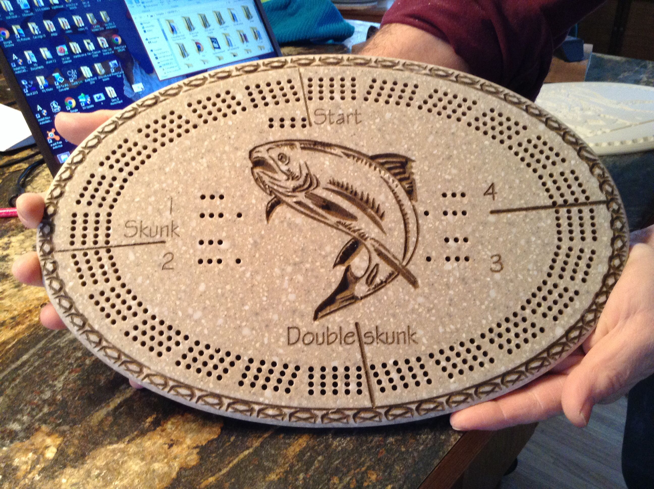 Beautiful Homemade Cribbage Boards