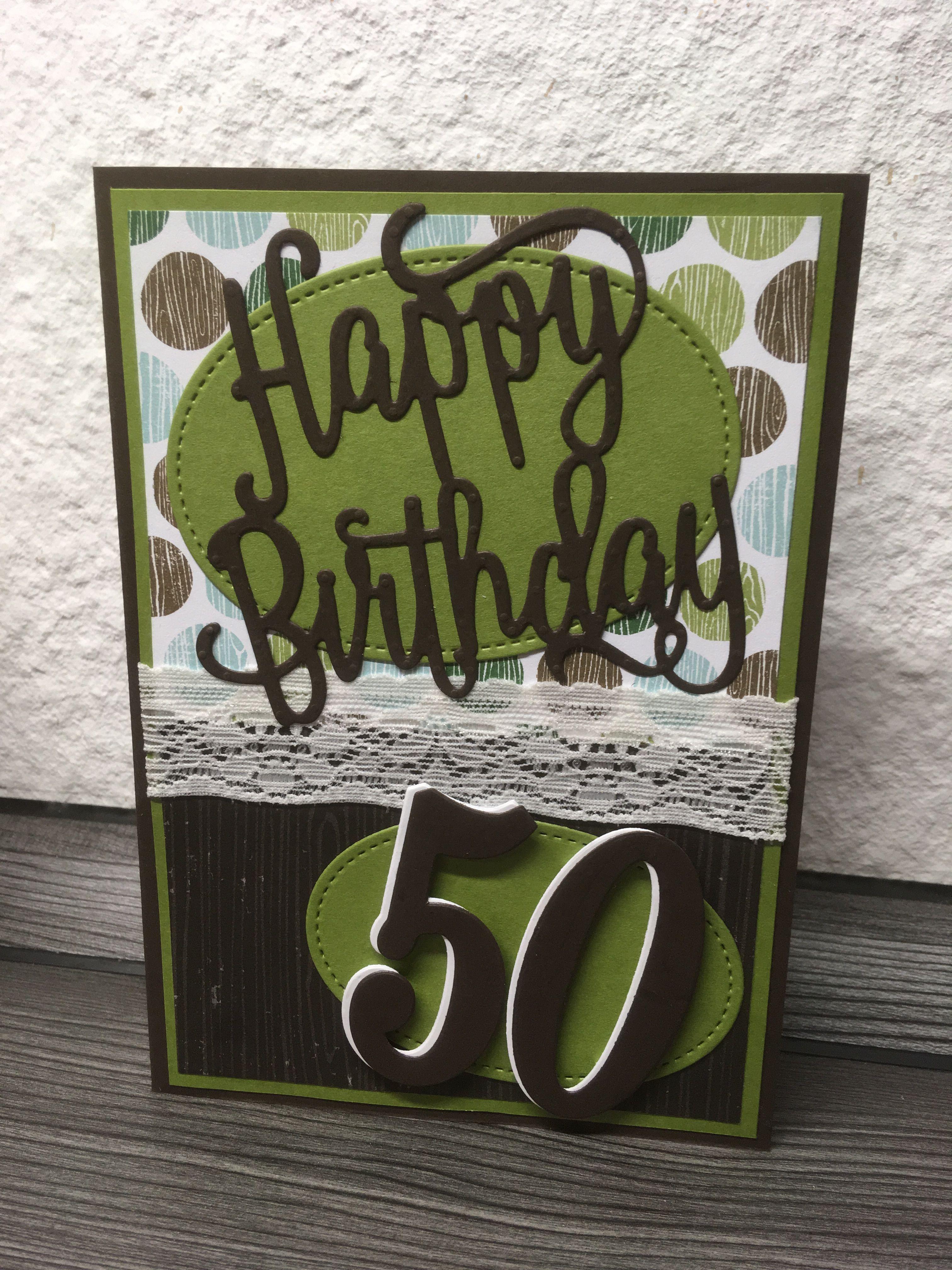 Stampin Up Gluckwunschkarte Zum 50 Geburtstag Gluckwunschkarte