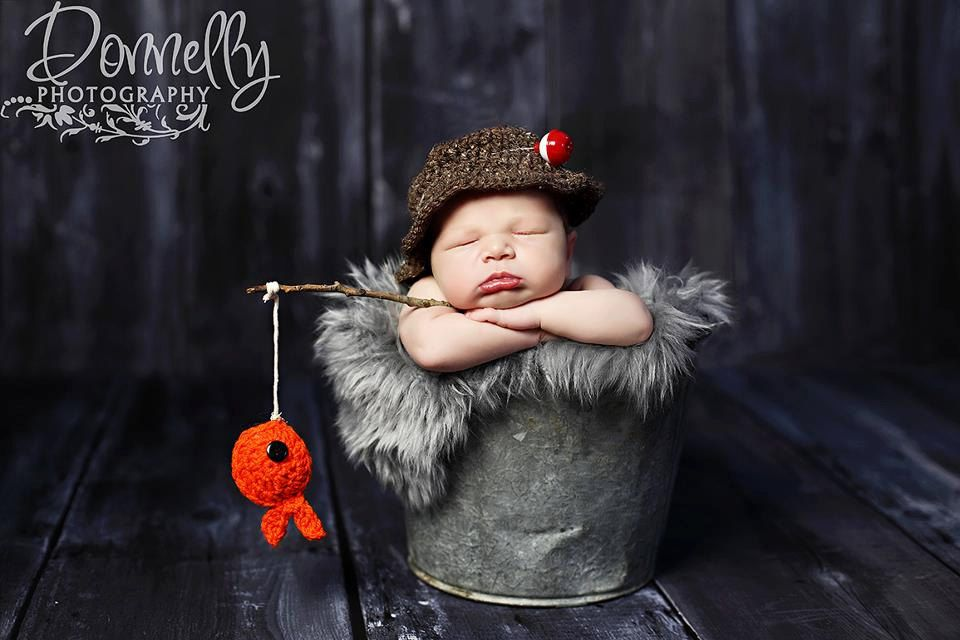 Baby boy hat fisherman set newborn photography photo prop crochet hat and fish 40 00 via etsy